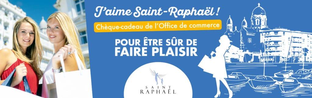 Logo des chèques cadeaux j'aime Saint Raphael